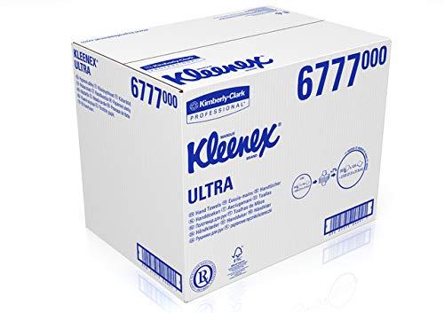 KLEENEX® Papierhandtuch, ULTRA, Airflex®, 2lagig, Interfold, 30 x 124 Tücher, 21,5 x 31,5 cm, hochweiß (3.720 Stück), Sie erhalten 1 Packung á 3720 Stück