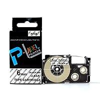 カシオ ネームランド用 互換 テープカートリッジ 6mm XR-6X 透明地黒文字