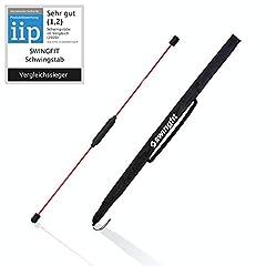 swingfit® swingstick incl. praktisch tas & back trainingsplan - swingstick voor diepe spieren & rehab - turn swing stick voor fitness (origineel)*
