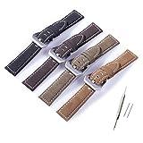 11Straps 【取り付け幅22mm】スエード 時計ベルト 本革製 【バネ棒&バネ棒外し付属】 (サンド)