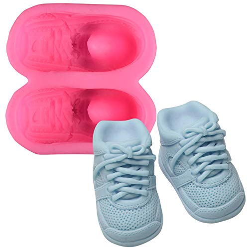 EchoDone 3D スニーカー シリコン型 樹脂製 DIY 靴型 石鹸型 キャンドル 人工宝石 ポリマー粘土 シリコンケーキフォンダン型