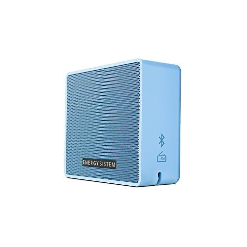 Energy Sistem Box 1+ Altavoz inalámbrico portátil con Bluetooth (5 W, microSD MP3, FM Radio, Audio-In) Azul