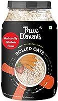 True Elements Rolled Oats 1.2 kg - Gluten Free Oats, Breakfast Cereal, Diet Food, Super Saver Pack