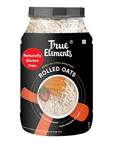 True Elements Rolled Oats 1.2 kg - Gluten Free Oats,...