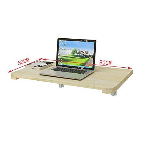 FEI Double support avec table murale de table murale pliez la table contre le mur (Couleur : Wood, taille : 90 * 50CM)