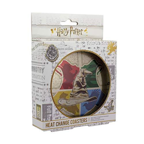 Harry Potter Untersetzer Thermoeffekt Sprechender Hut bedruckt, aus Kork, in Metalldose.