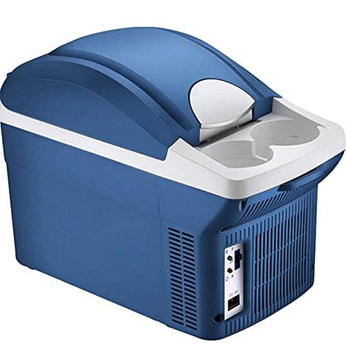 Car refrigerator Electric Coolbox cooler hot and cold 8L portable compressor refrigerator Quiet 12v camping mini fridge freezer Suitable for travel/interferon/drug storage