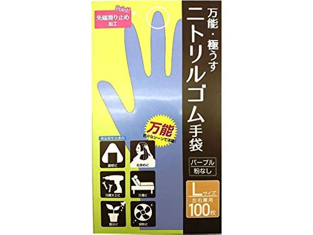 独裁準拠決してCS ニトリルゴム手袋 L 100P