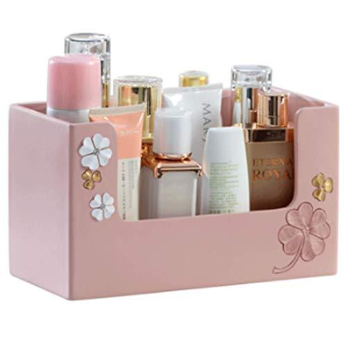Household Necessities/geschenk make-uptafel meisjes lievelingsmake-uptafel roze cosmetica opbergdoos plank slaapkamer kantoor huidverzorging make-uptafel lippenstift opbergdoos afwerking 25X13X13.5CM Roze