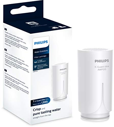 Philips - AWP315 - Cartucho Filtrante de Agua para Grifo X-Guard Ultra On Tap, Filtro de agua con Tecnología Ultrafiltración de 4 etapas, Duración 1.200 Litros / 6 meses