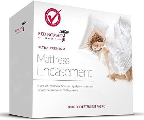 Red Nomad Zippered Mattress Encasement, Mattress Protector Zippered, 6-Sided Bed Cover - Twin XL Size