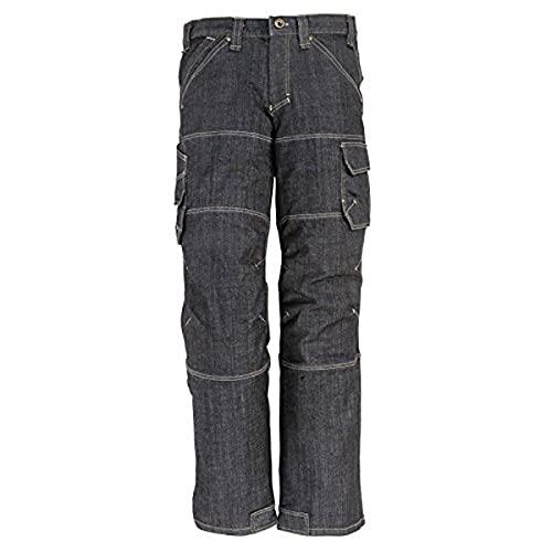 FHB 22659–22–23 Wilhelm Workwear-Jeans, Schwarz/Blau, schwarz, 2066132