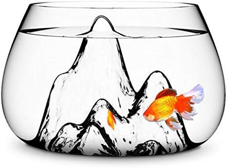 25Cm Glass Vase Fish Tank goldfish Aquarium Bowl Terrarium Decoration (color   , Size   )