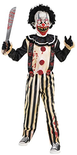 amscan 9902442 Childs Scary Slasher Clown Halloween Fancy Dress Costume Age 8-10 Years