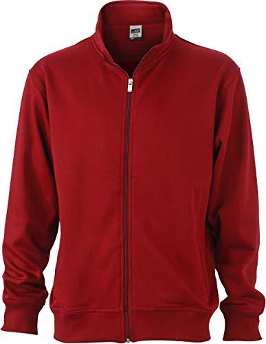 James & Nicholson Hombre Workwear Chaqueta Sudadera N9294, Hombre, JN836 wi, Burdeos, Extra-Small