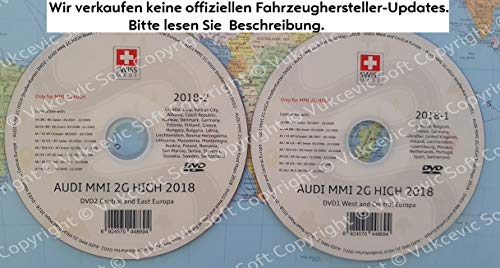 A U D I MMI 2G High Navigation – Europa 2018 DVD1+DVD2