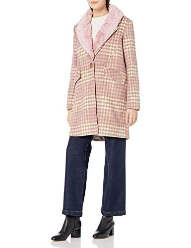 Steve Madden Women's Wool Fashion Coat, Dusty Pink, S