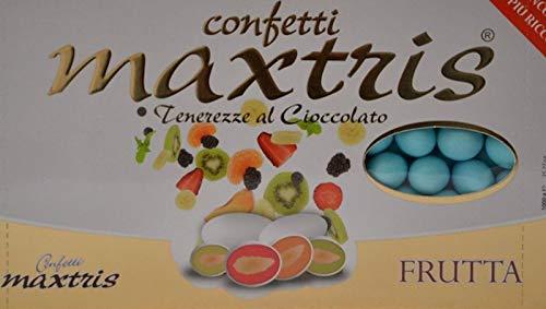 MAXTRIS   Confetti Italiani di Mandorla   MIX FRUTTA AZZURRO   1 Kg.