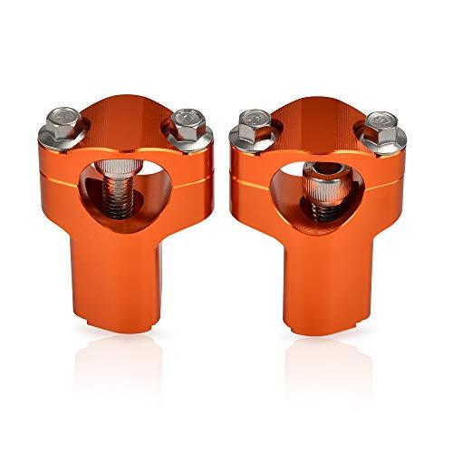 H2RACING 28MM Orange Motorrad Lenkerklemme Lenkerhalter Lenkererhöhung Montageadapter für K-T-M 690 Enduro/R/SMC,300/500 EXC/350 EXC-F,1190 Adventure/R,500 XC-W 2012-2016,500 EXC Six Days 2016