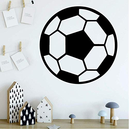 Wandaufkleber Nette fußball diy büro regeln dekor wohnwand für kinderzimmer pvc kunst benutzerdefinierte wand wasserdicht abnehmbare geschenk geburtstag 58 cm x 58 cm Wandtattoos