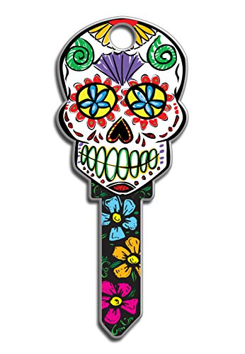 Lucky Line Key Shapes, Sugar Skull, House Key Blank, SC1, 1 Key (B136S)