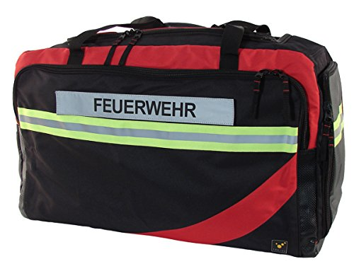 tee-uu RAGBAG PRO Bekleidungstasche (Verschiedene Varianten) (inkl. Reflexstreifen Feuerwehr)