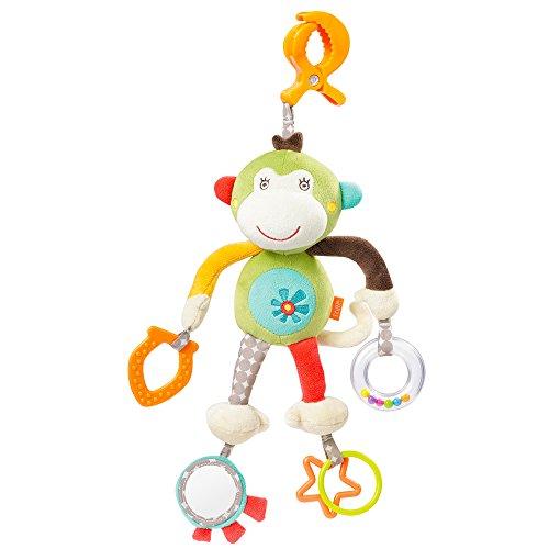 Fehn Safari Activity-Toy Monkey with clamp (Animal + act.)