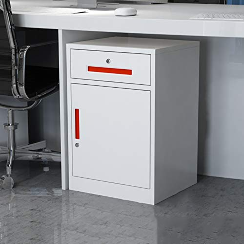 2 gesloten ladekasten, witte lades set systeembox gegevensslot 440 × 390 × 650 mm 1.5mm thickness