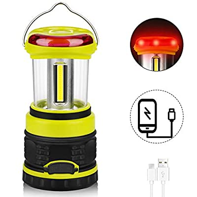 LED Camping Lantern,Rechargeable Ultra Bright 1200LM, 4 Light Modes, Waterproof Emergency Lantern for Hurricane, Survival Kit, Power Outage, Hiking, USB Cable Included