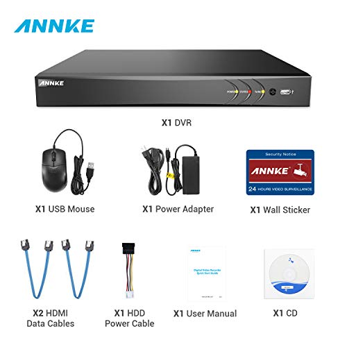 ANNKE 32-Channel H.265+ Security DVR NVR Recorder, 5-in-1 1080P Surveillance CCTV DVR with HDMI Output, Supports up to 18 5MP IP Cameras, P2P Technology, Easy Remote Access, No Hard Drive Included