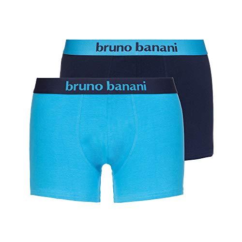 bruno banani Herren Short 4er Pack Flowing Boxershorts, Blau (Azur//Navy 2731), Medium (Herstellergröße: M)
