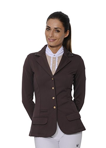 SPOOKS Turnierjacket Showjacket Sequin brown Größe L