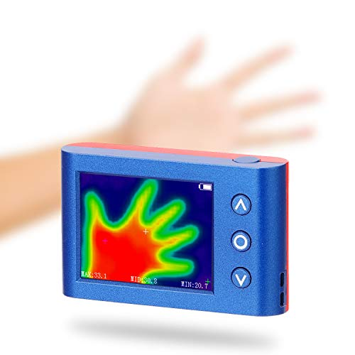 Montloxs Tragbare Hand-Thermografiekamera Infrarot-Temperatursensor Digitale Infrarot-Wärmebildkamera
