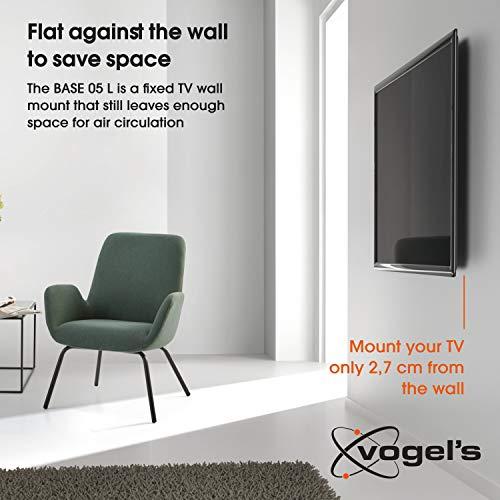 Vogel's BASE 05 L Ultra forte support mural TV fixe pour téléviseurs XL de 40-80 Pouces (102-203 cm) | Poids max. 70 kg et jusqu'à VESA 800x400