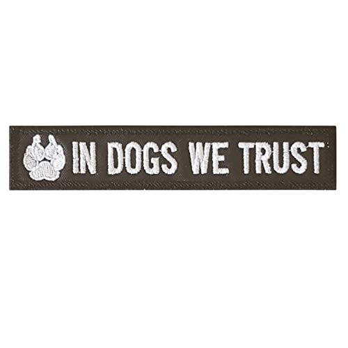 LEGEEON K-9 in Dogs We Trust Dog Handler Paw K9 Tactical Morale Army Gear Touch Fastener Patch