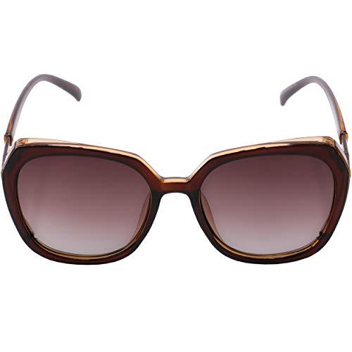 ROCS Gafas de sol polarizadas para mujer, estilo oversize con lentes antirreflejos, UV400, ligeras, cómodas al aire libre, para viajes, senderismo, conducción o días de playa, marrón,