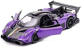 TYZXR Modellauto Modellauto Druckguss Modelllegierung Auto Modell Pagani Zonda Sportwagen Modell Kinderspielzeug Auto Geschenkverzierungen (Farbe: Lila)