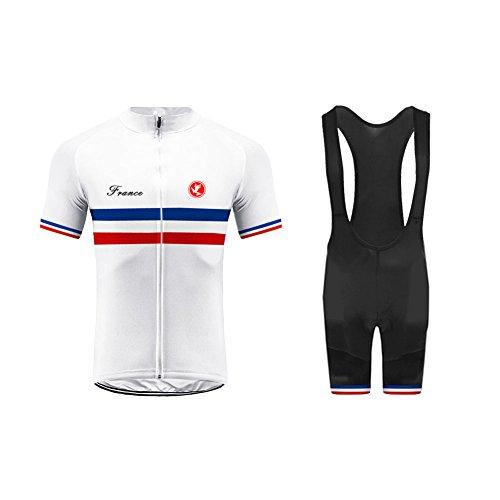 Uglyfrog Maillot Cuissard Cyclisme Homme Tenue de Vélo Manches Courtes Respirant Jersey Pro Été