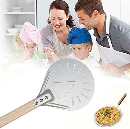 Pelle /à pizza perfor/ée Excellent outil Pelle /à pizza pour boulangers /à pizza faits maison Parfait pour la cuisson des pizzas Sailsbury Bac /à pizza perfor/é de 7//8//9