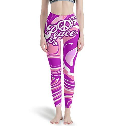 wangjizhouyabo Peace Bauchkontrolle Workout Laufen Hose – Peace Slim Every Body Type Booty Scrunch Strumpfhose Yogahose weiß L