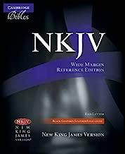 NKJV Wide Margin Reference Bible, Black Edge-lined Goatskin Leather, Red-letter Text, NK746:XRME