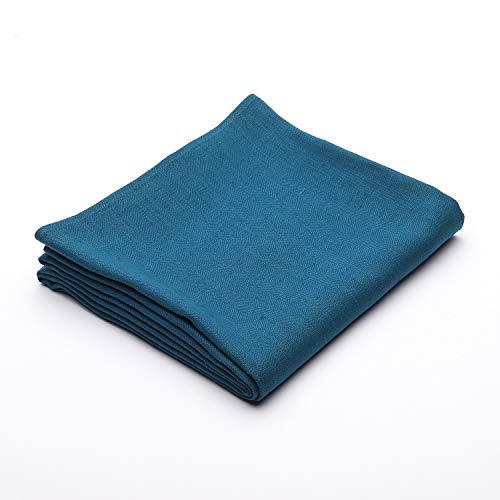 LinenMe Nappe en Lin Bleu Marine 53 x 98 cm
