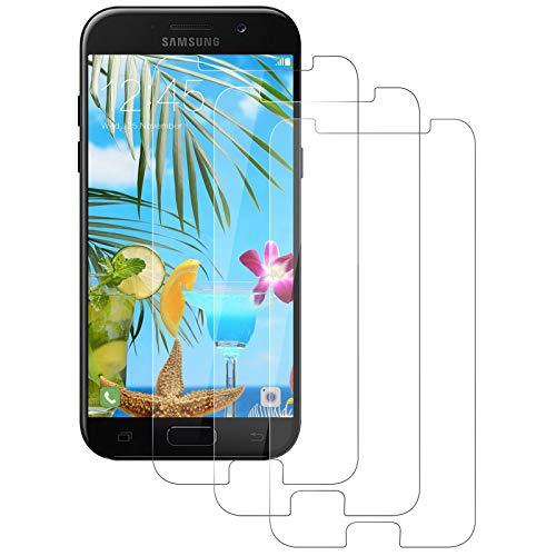 Aspiree 3 Stück Panzerglas Schutzfolie kompatibel mit Samsung Galaxy A5 2017, Gehärtetes Glas Displayschutzfolie mit 9H Härte, HD Ultra Klar, Anti-Kratzen, Anti-Öl, Displayschutz Folie für A5 2017