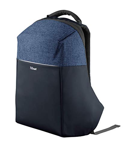 Trust Nox Anti-diebstahl Laptop Rucksack (14 bis 15,6 Zoll Anti Theft Backpack) Blau