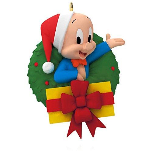 Looney Tunes - Merry Christmas, Folks! Porky Pig Wreath Ornament 2015...