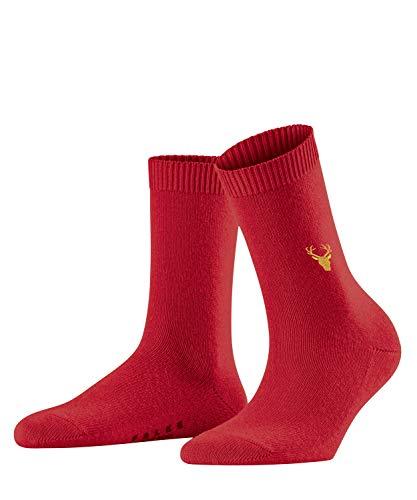 FALKE Damen Cosy Wool Deer Socken, rot (ruby 8352), 35-38 (UK 2.5-5 Ι US 5-7.5)