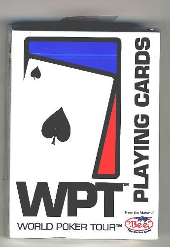 WPT World Poker Tour Playing Cards White Deck - Great for Poker or Blackjack
