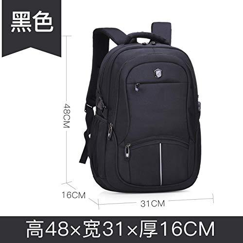 XMXYLP Sac à Dos Universel étanche pour l'école de Voyage en Plein air Leisure Travel Bag Student Backpack, Noir, 14 Pouces