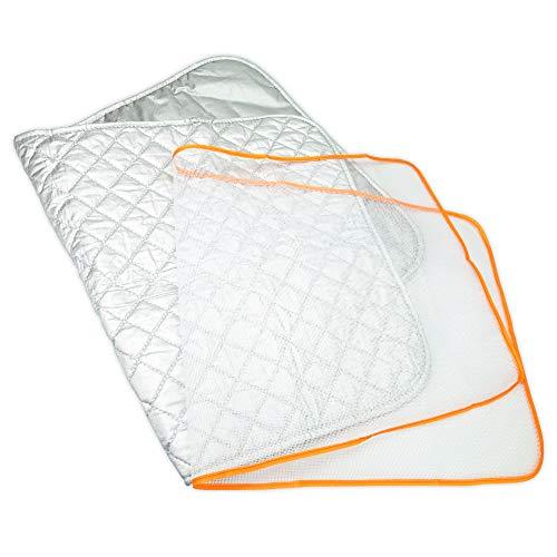 Uni estela 両面使用可能 折り畳めるから 省スペース保管 アイロンマット&あて布セット