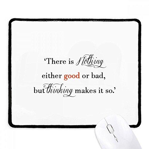 DIYthinker Det finns inget bra eller dålig halkfri musmatta spel kontor svart sydda kanter gåva